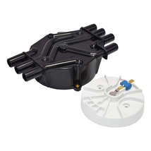 A-Team Performance Distributor Cap and Rotor Compatible with GM Vortec 262 Black image 2