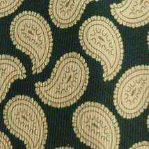 Green Yellow Paisley ZEGNA Silk Tie - $14.99
