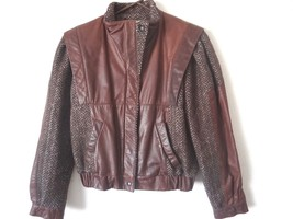 Vintage Winlit Wool and Leather Women's Size 7/8 Zip Jacket - $32.39