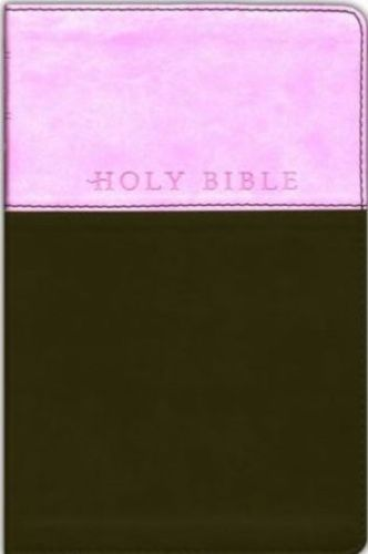 "NLT ""NEW LIVING TRANSLATION"" PREMIUM GIFT BIBLE LEATHER LIKE PINK & BROWN"