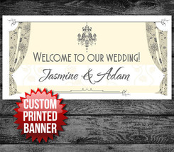 """Welcome to Our Wedding PARTY BANNER Sign DECORATION 48"""" x 24"""" - $22.50"""