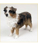 AUSTRALIAN SHEPHERD AUSSIE (brown) DOG Figurine Statue Hand Painted Resin - $17.25