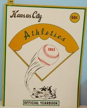 1963 Kansas City Athletics Official Baseball Yearbook EX Condition - $44.55