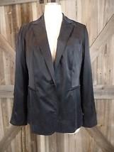 NWT $229 TALBOTS Black 100% brushed Silk Grace Fit Blazer Jacket 10P - $29.69
