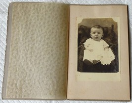 Studio Photograph Cabinet Card Infant Baby in White Gown Identified, Ear... - $2.00