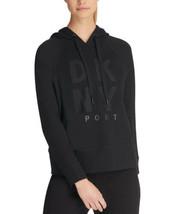 DKNY Women's Sport Studded-Logo Hoodie (Black, L) - $44.45