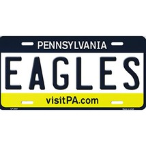 Eagles Pennsylvania Background Metal License Plate - $12.85