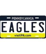 Eagles Pennsylvania Background Metal License Plate - $12.21