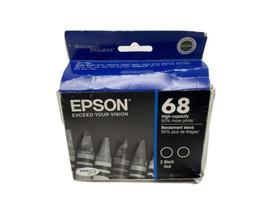 Epson 68 Black Ink Cartridge T0681 Genuine Dual Pack - $29.70