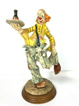 "Dante by Ado for Creative World Waiter Clown Statue 12-1/2"" Tall Resin 1... - $114.95"