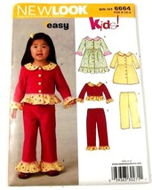 Simplicity New Look 6664 Sewing Pattern Dress Pants Top Size A 6 Months ... - $8.99
