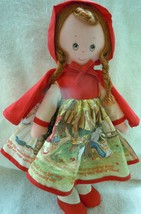Knickerbocker Story Dress Little Red Ridding Hood 1977 - $12.99