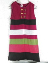 Gymboree Sz 8 Girls Sweater Dress Jumper Sleeveless  Pink Striped B414 - $6.00