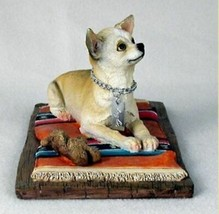 CHIHUAHUA TAN MY DOG  Figurine Statue Resin Hand Painted pet lovers gift - $35.99