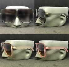 Aviator Oversized Square Betty Design Flat Top Fashion Sunglasses Men Women - $11.62+