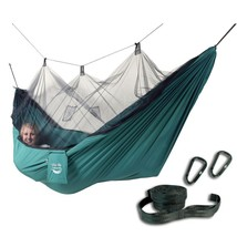 Hammock Swing Bed with Free Tree Straps and Mosquito Net Unique Backyard... - $55.99