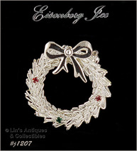 EISENBERG ICE WREATH PIN SILVER TONE WITH RHINESTONE ACCENTS (Inventory ... - $28.00