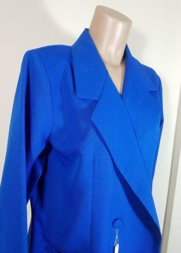 ROAMAN'S WOMEN'S SPORT COAT BLAZER DOUBLE-BREASTED ROYAL BLUE SZ A6  R/N # 23220
