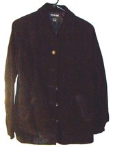 Style & Co. Black Suede Leather Jacket with Pockets Sz M - $47.49
