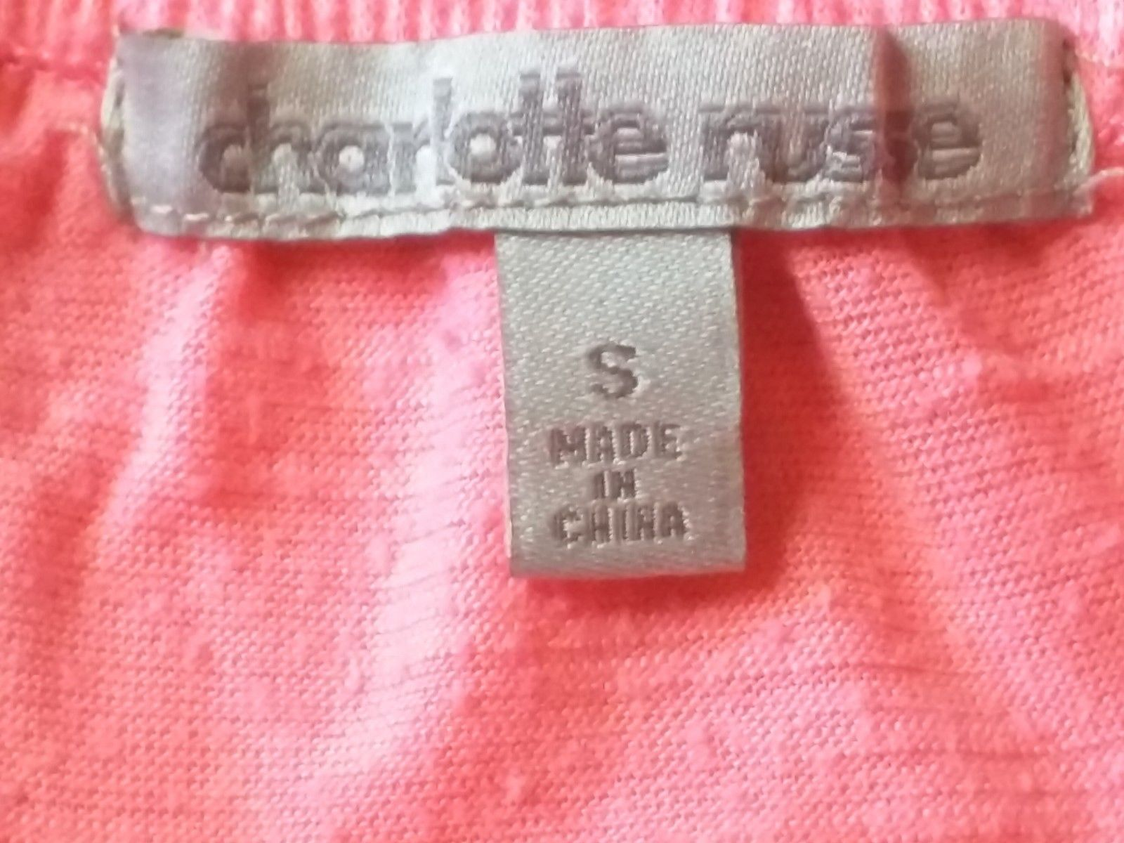 6d633872430 CHARLOTTE RUSSE RN 101331 - Women s Peachy Pink T-Back Tank - Size