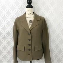 St. John Olive Green Wool Hand Sewn Jacket - Women's Size 8 - $99.99