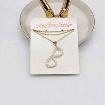 Fashion simple wind handmade freshwater pearl english alphabet personality necklace 974 thumb200