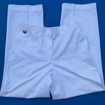 Liz Golf Annisa Pants Womens Sz 10 White Straight Leg Flat Front Zip 31i... - $8.41