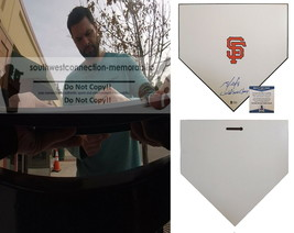 Brandon Belt SF Giants Autographed Signed Baseball Home Plate Base Proof... - $126.09