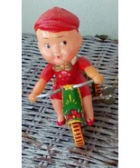 Tin Wind-up Toy Boy on Tricycle.  Made in China,  261 PS013.  Y-077 - $14.00