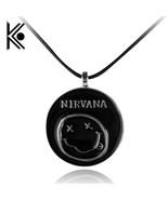 Free 1pcs lot black pendants retro nirvana necklace for women men girls boys thumbtall