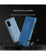 Samsung Note 20 10 Ultra 5G S10 S8 Plus Mirror Luxy Clear Galaxy Flip Ca... - $65.37