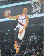 Damian Lillard Signed 16x20 Canvas Print Photo - Global Authentics - ₹12,541.71 INR