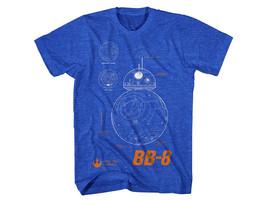 Star Wars The Force Awakens BB-8 Plans Diagram Blueprint T-Shirt NEW