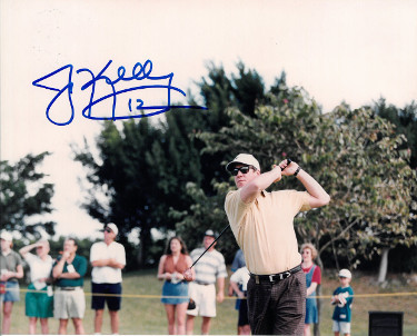 Primary image for Jim Kelly signed Golf 8x10 Photo #12 minor scratches (Buffalo Bills)- PSA/JSA/BA