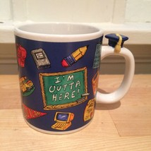 "New in Box NIB Avon GRADUATION Coffee Mug ""I'm Outta Here"" High School C... - $28.05"