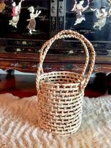 M Straw Bag,Straw Basket Tote,Straw Basket Bag,Round Straw Bag,Round Bas... - $75.00