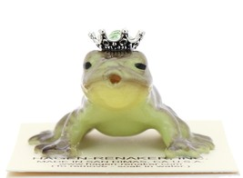 Hagen-Renaker Miniature Frog Prince Kissing Birthstone 07 August Peridot
