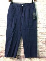 Women's Crop Pants Size 10 Petite Stretch Cotton JONES NEW YORK NEW # E699 - $23.21