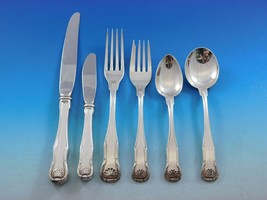 King by Kirk Stieff Sterling Silver Flatware Set Service 61 Pieces Shell... - $5,440.05