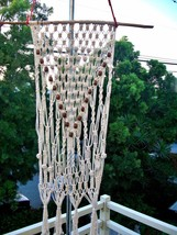 Macrame wall hanging, handmade, natural cotton ... - $64.35