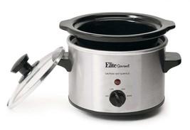 Small Slow Cooker Stainless Steel Crock Pot Mini Kitchen Appliance Porta... - $14.55