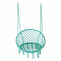 LAZZO Hammock Chair Hanging Knitted Mesh Polyester Rope Macrame Swing, (... - $72.46