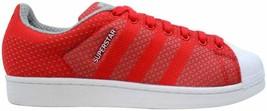 Adidas Superstar Weave Pack Tomato/White S77929 Men's Size 9.5 - $90.00