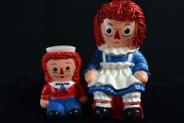 Raggedy Ann & Andy Hard Rubber Coin Banks Figures 70's - $16.30