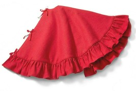 "Wondershop 48"" Round Red Lurex Christmas Tree Skirt NEW image 2"