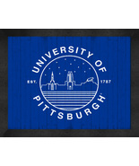 University of Pittaburgh 13 x 16 Uscape with Retro Starry Night Framed P... - $39.95