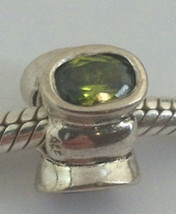 Authentique Pandora Argent 925 Bonsaï avec Grand Vert Zircone Perle Brel... - $59.13