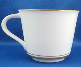 Noritake Gloria Flat Tea Coffee Cup White with Gold 8 oz ca 1970 No Sauc... - $9.90
