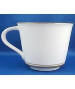 Noritake Gloria Flat Tea Coffee Cup White with Gold 8 oz ca 1970 No Sauc... - $9.90
