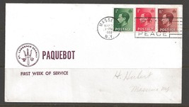 1962 Paquebot Cover British stamps used in Masenna, New York (May 20) - $5.00